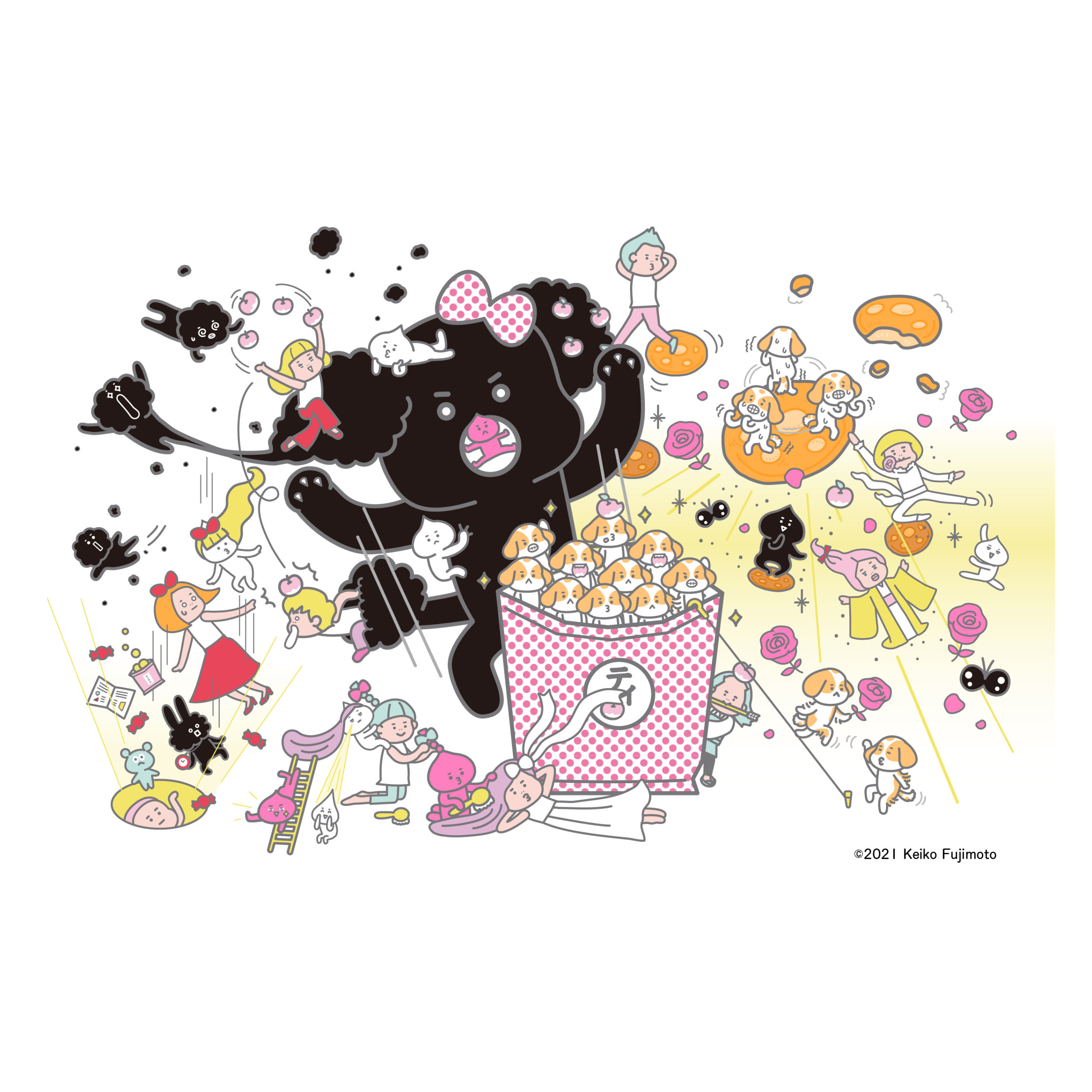 おもしろ・かわいい系mixイラスト(illust6)