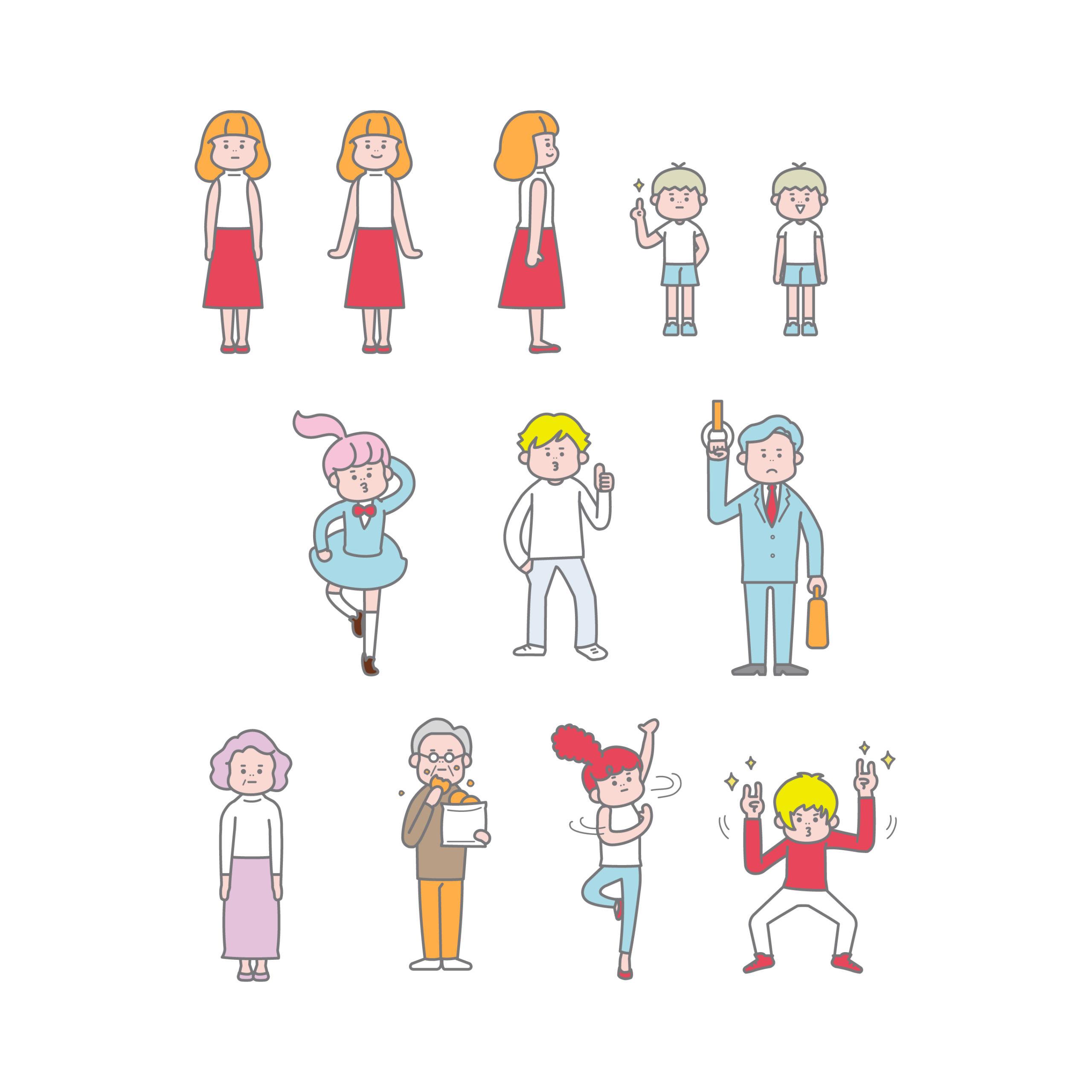 おもしろ・かわいい系人物イラスト(illust8)